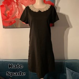 Kate Spade size 2 S Small black wool dress lined